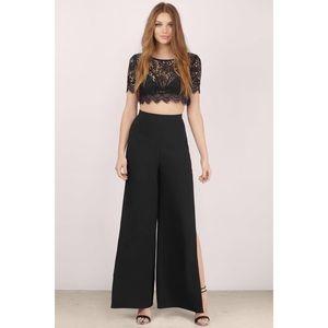 Tobi Juliet Eyelash Lace Slip Pants Set